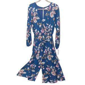 June & Hudson floral jumpsuit pantsuit JR szLg